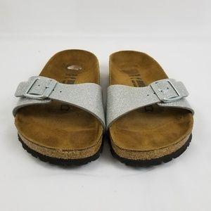 Birkenstock Women's Sandals Size 5-5.5 Silver